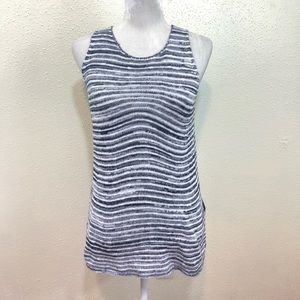 Lucky Brand Denim Black & White Striped Top